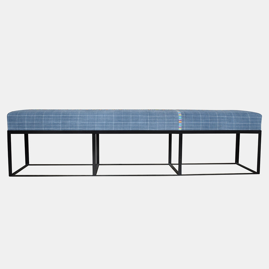 "72"" Cruz Bench in Guatemalan Textile"