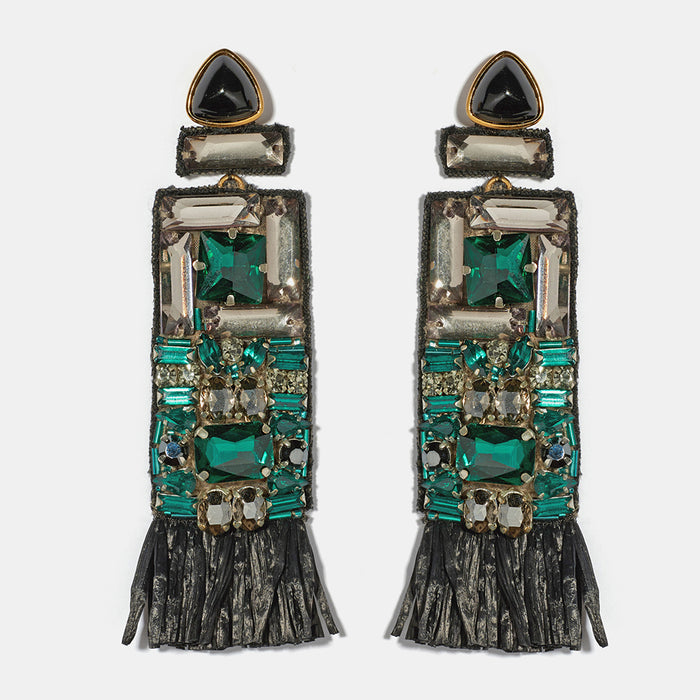 Emerald City Earrings, Earrings, Lizzie Fortunato, Collyer's Mansion - Collyer's Mansion