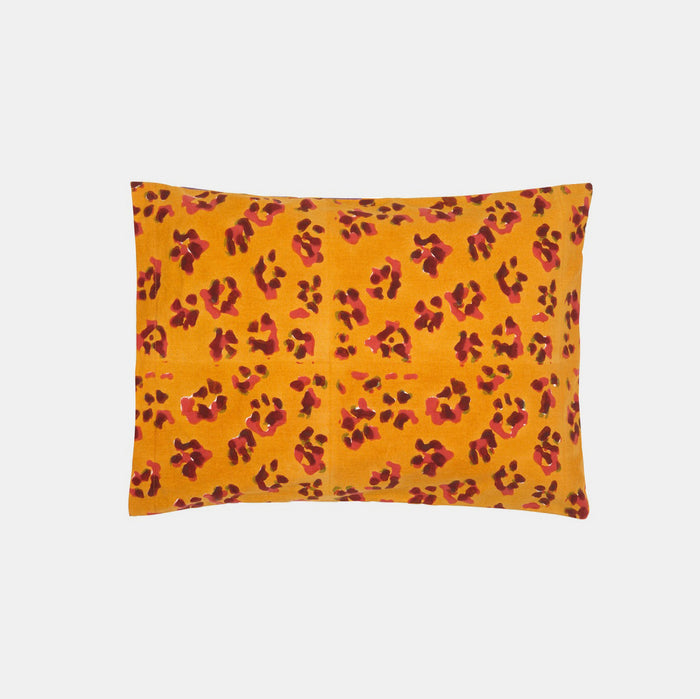Leopard Stripes Rust Baby Pillow