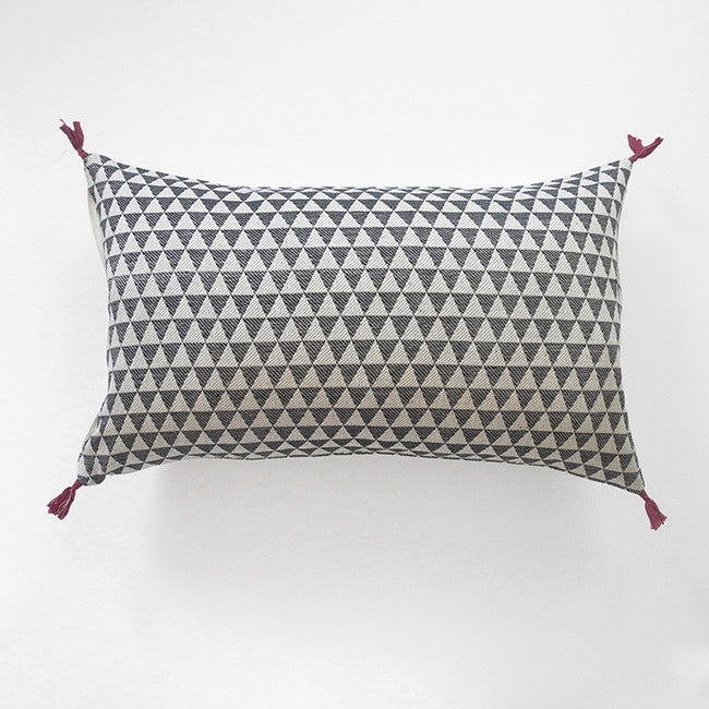 Alice Charcoal Pillow, lumbar, Pillow, Jamini, Collyer's Mansion - Collyer's Mansion