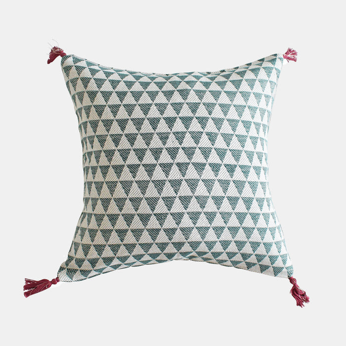 Alice Forest Green Pillow, square