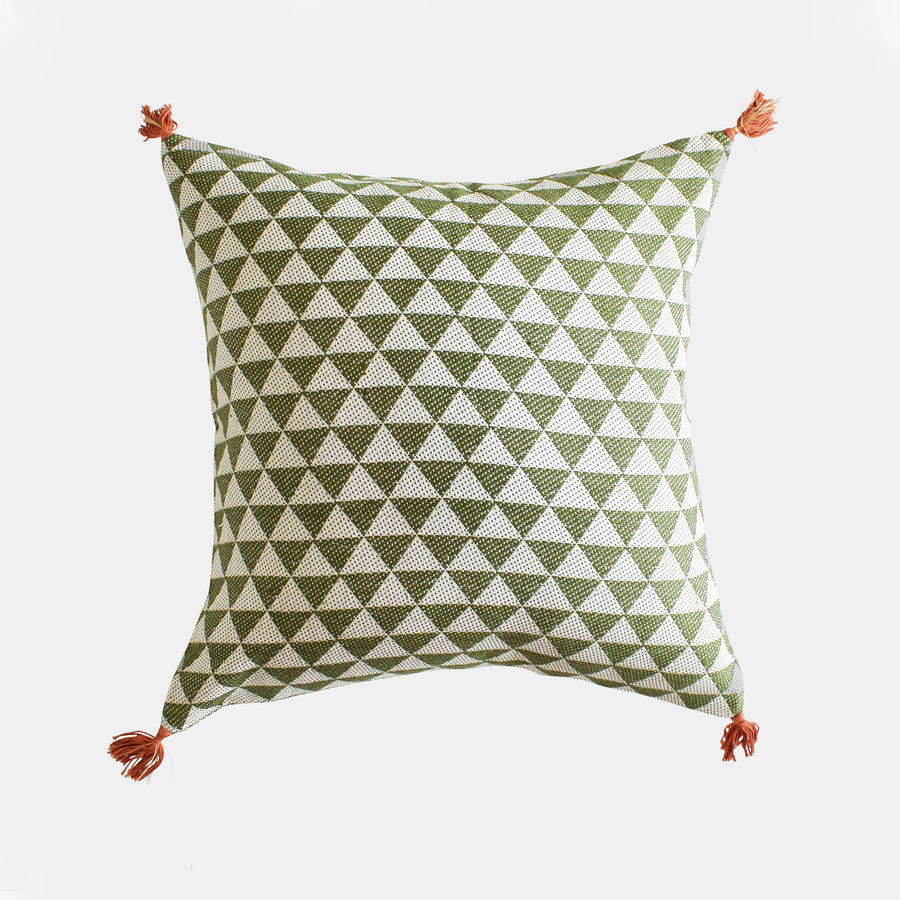 Alice Khaki Pillow, square