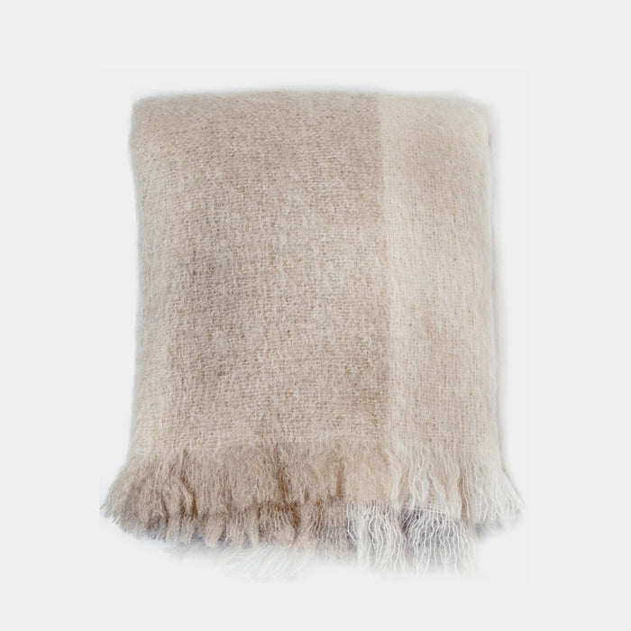 Alpen Plaid Mohair Throw