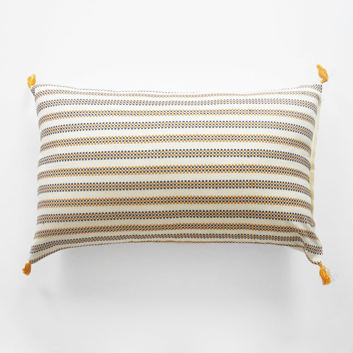 Amelie Blue and Mustard Pillow, lumbar