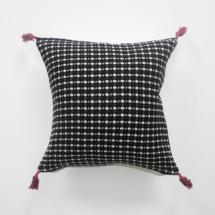 Ashima Charcoal Pillow, square