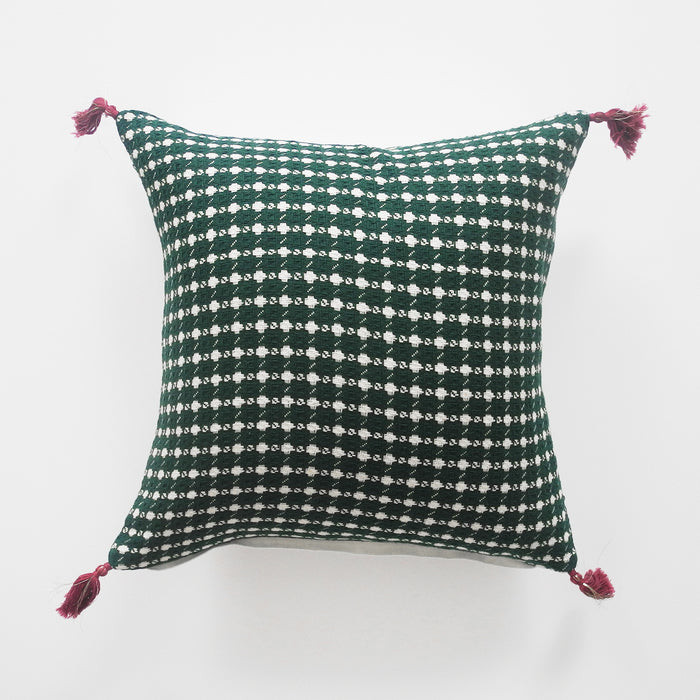 Ashima Green Pillow, square