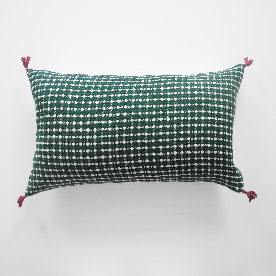 Ashima Green Pillow, lumbar, Pillow, Jamini, Collyer's Mansion - Collyer's Mansion