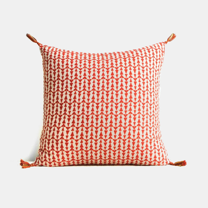 Ashu Terracotta Pillow, square, Pillow, Jamini, Collyer's Mansion - Collyer's Mansion