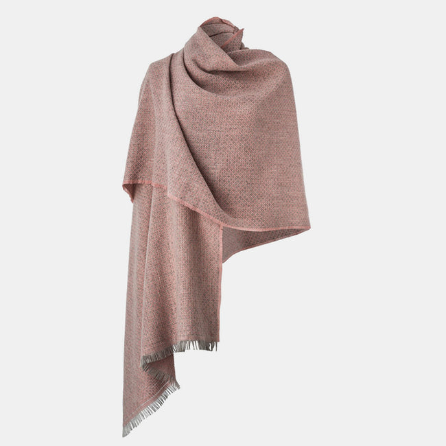 Pink Cashmere Blend Shawl
