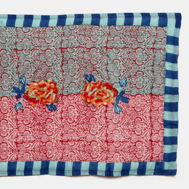 Maharani Coral Quilt, baby, Quilt, Lisa Corti, Collyer's Mansion - Collyer's Mansion