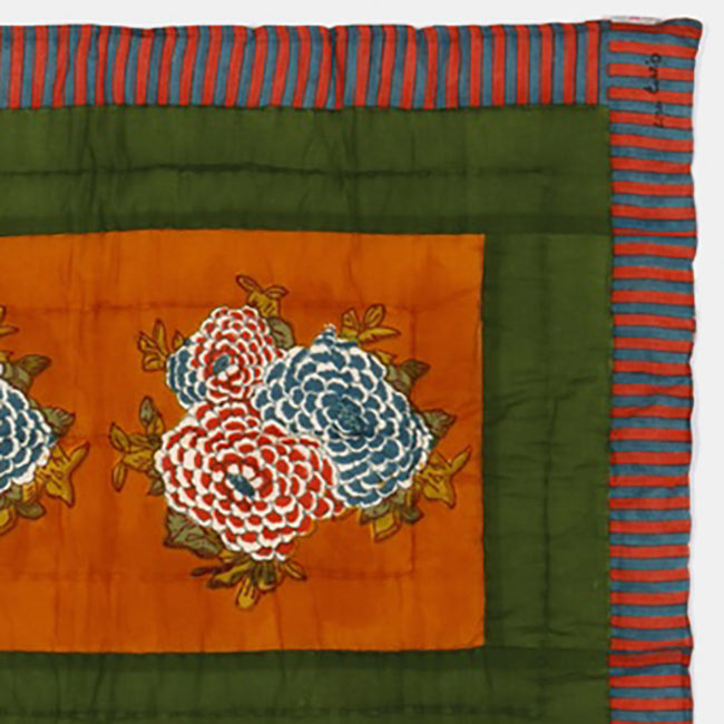 Corolla Green Gold Quilt, baby, Quilt, Lisa Corti, Collyer's Mansion - Collyer's Mansion