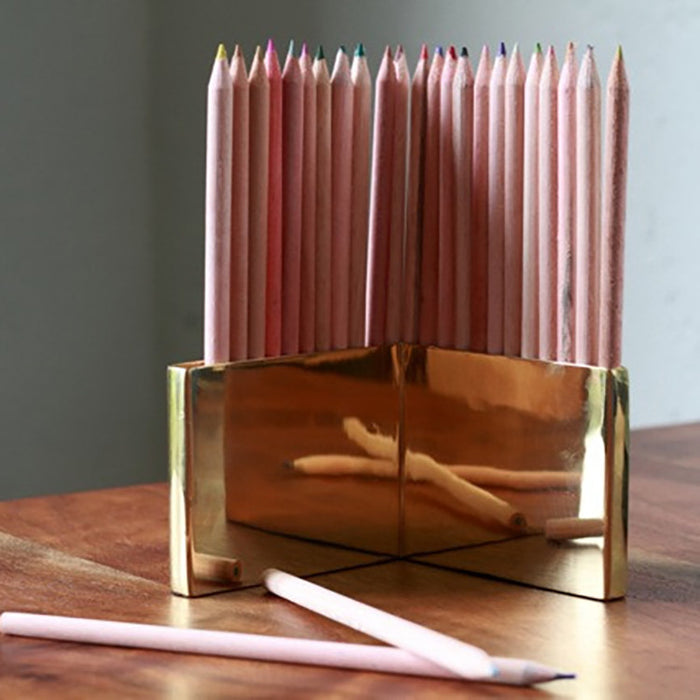 Brass Colored Pencil Set