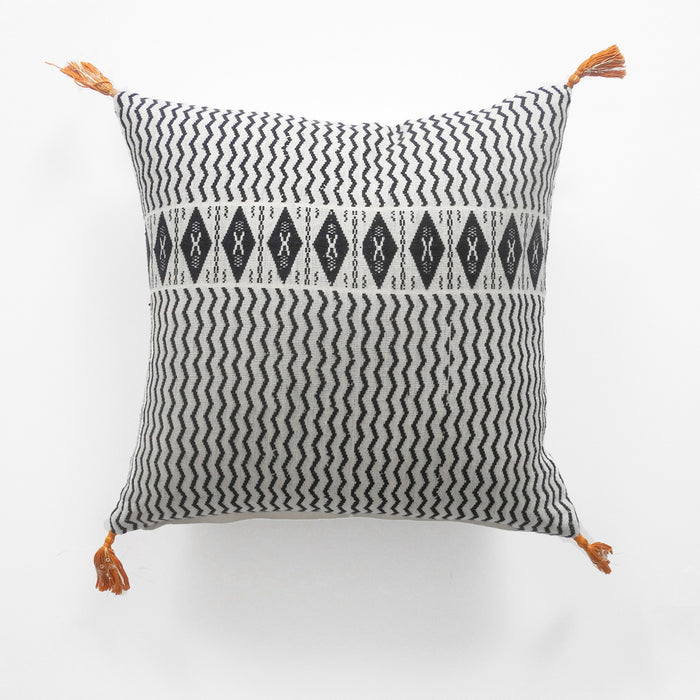 Babette Charcoal Pillow, square, Pillow, Jamini, Collyer's Mansion - Collyer's Mansion