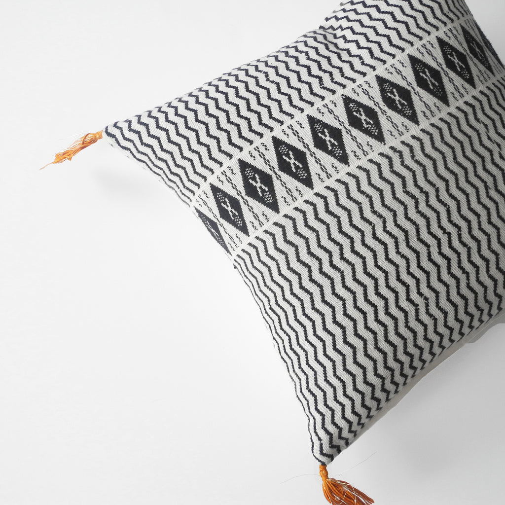 Babette Charcoal Pillow, square
