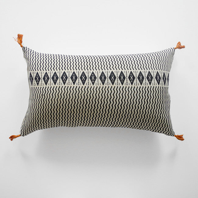 Babette Charcoal Pillow, lumbar, Pillow, Jamini, Collyer's Mansion - Collyer's Mansion