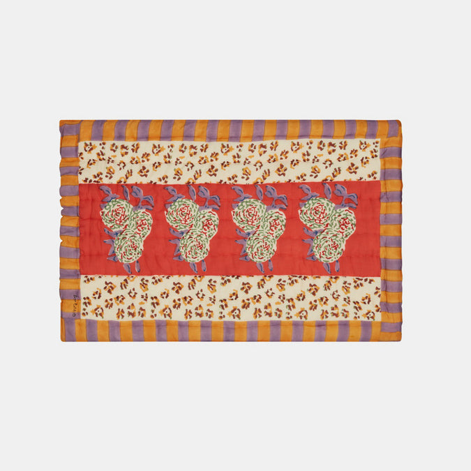 Leopard Stripes Rust Quilt, baby