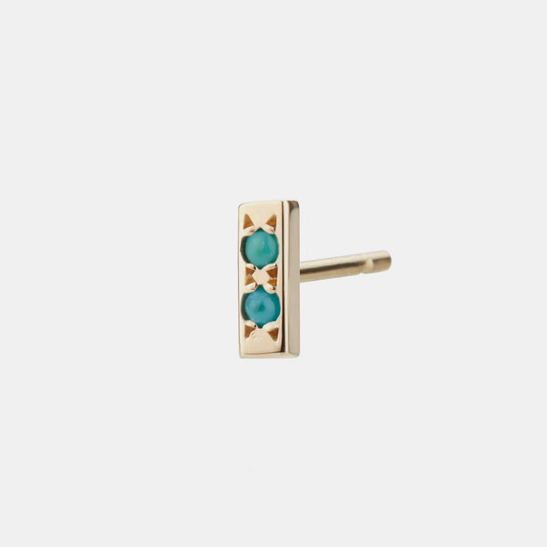 Individual Bar Earring, turquoise