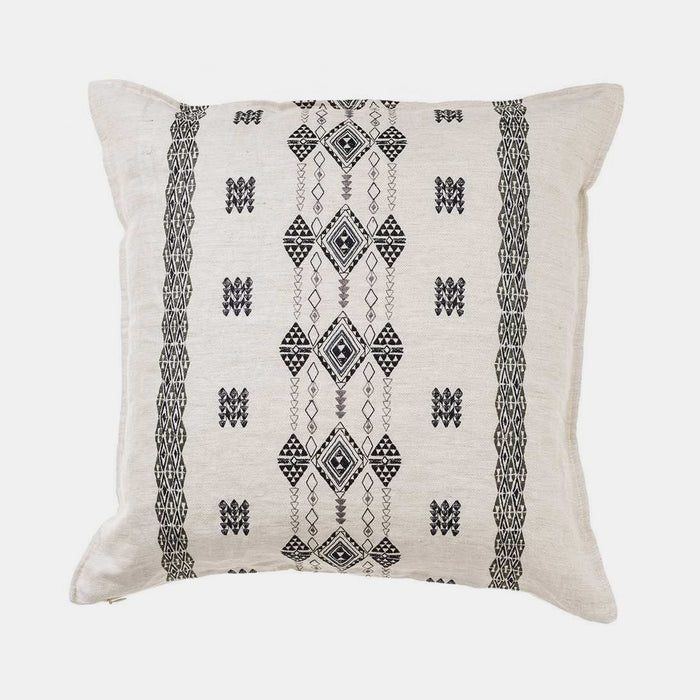 Colorful Berber embroidered square pillow by Coral & Tusk to mix with other pillows for colorful home decor - Collyer's Mansion