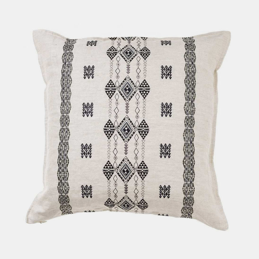 Berber Black and Ivory Pillow, square, Pillow, Coral & Tusk, Collyer's Mansion - Collyer's Mansion