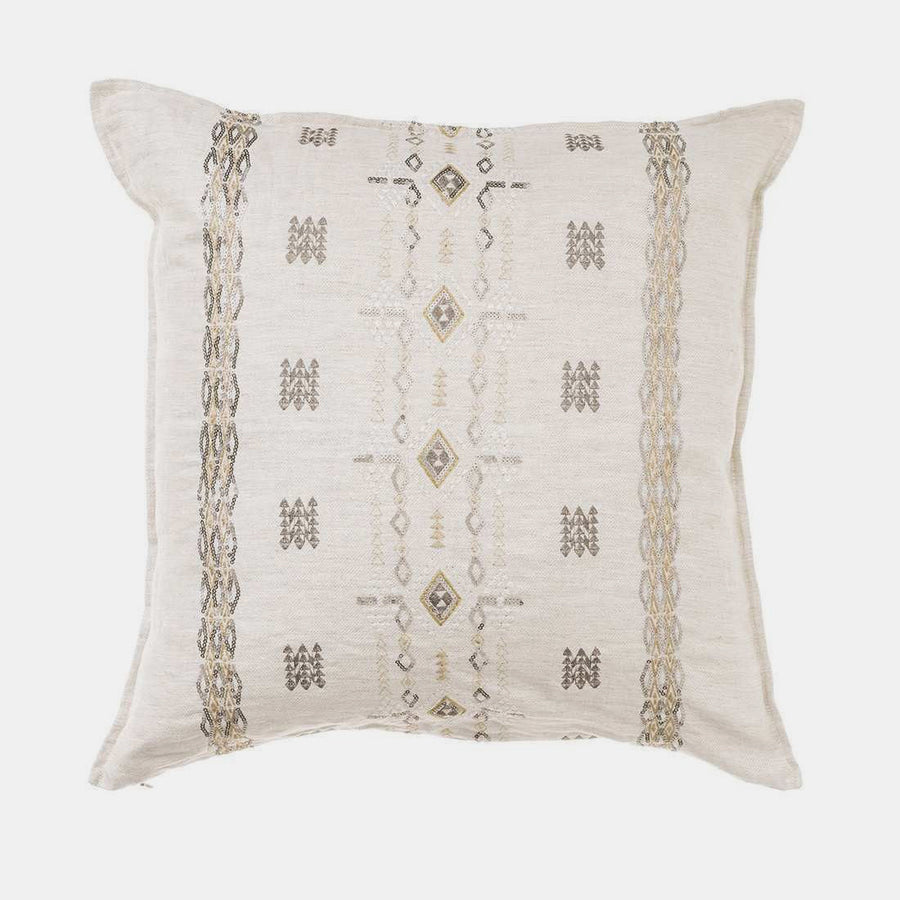 Berber Ivory and Sequin Pillow, square, Pillow, Coral & Tusk, Collyer's Mansion - Collyer's Mansion