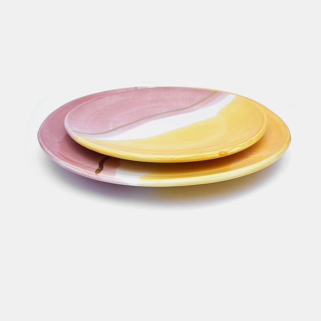 Bicolor Pink Plate