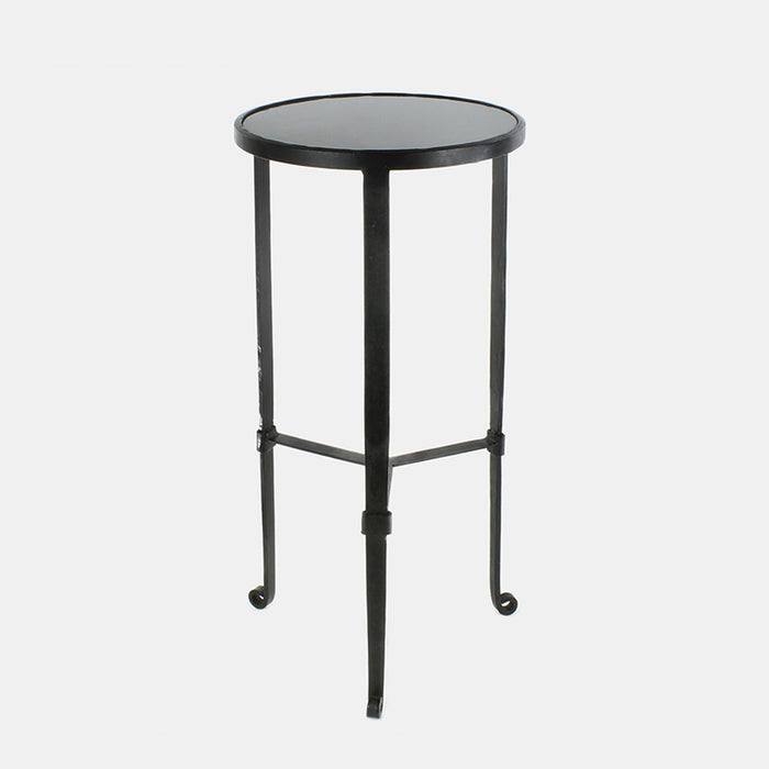Iron and Grey Marble Savoy Side Table, Table, HomArt, Collyer's Mansion - Collyer's Mansion