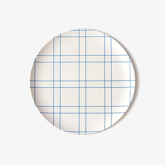 Blue Square Plate, medium