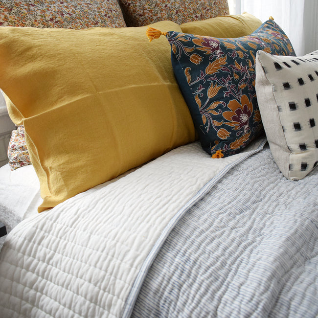Stripe Blue Quilt, twin or queen