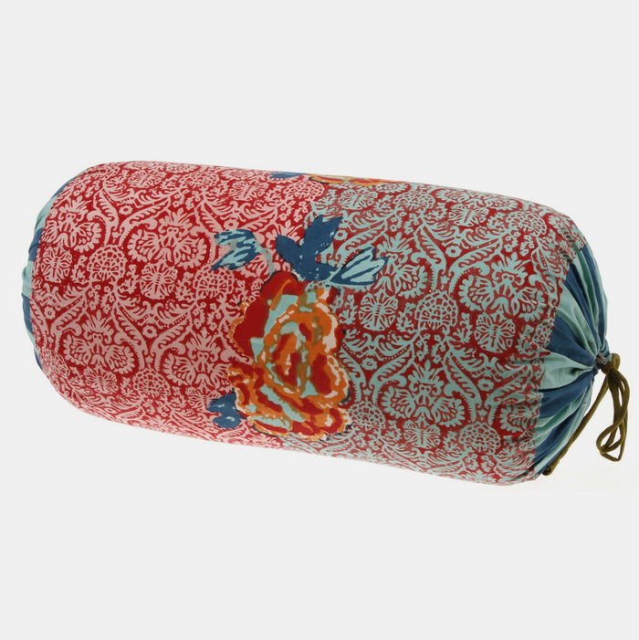 Maharani Coral Bolster Pillow, Pillow, Lisa Corti, Collyer's Mansion - Collyer's Mansion
