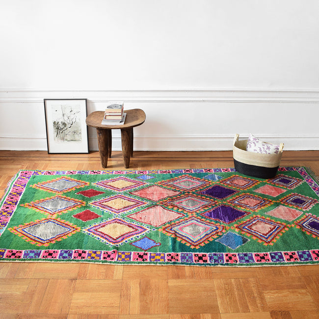 "Boucherouite Rug, 5'3"" x 9'6"", Rug, Le Nouvel Atlas, Collyer's Mansion - Collyer's Mansion"