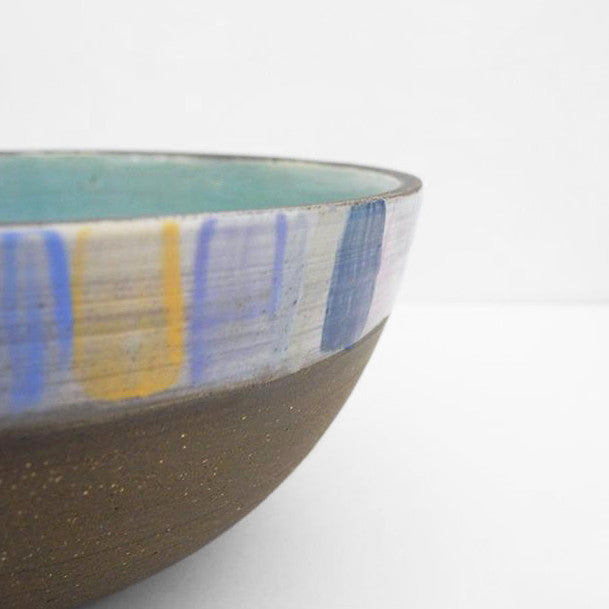 Ceramic Serving Bowl, earth stripe, Bowl, Leigh Forsstrom, Collyer's Mansion - Collyer's Mansion