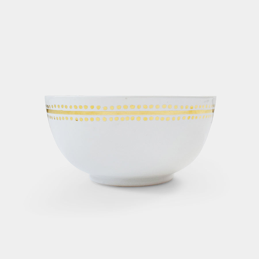 White Moroccan Dot Bowl