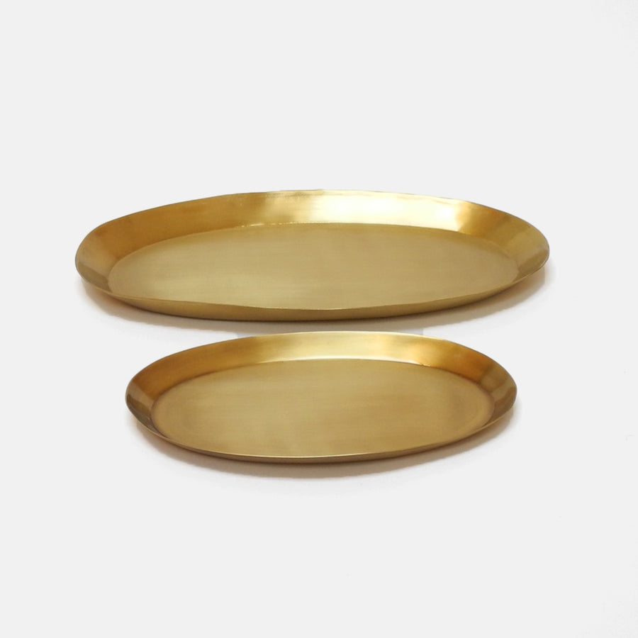 Fog Linen Oval Brass Tray for dining or home decor - Collyer's Mansion
