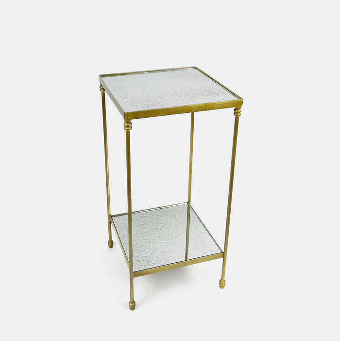 Mirrored Top Side Table