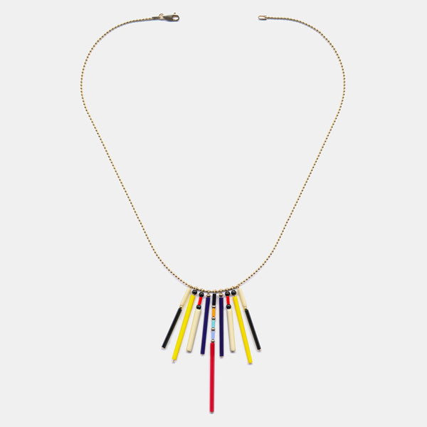 Bright Fringe Necklace