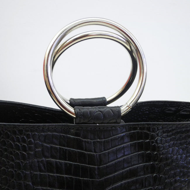 Addie Ring Bucket Tote, black, Bag, CAB, Collyer's Mansion - Collyer's Mansion