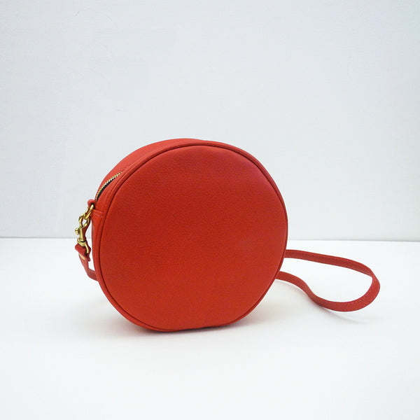 Mini Lisa Circle Bag, tomato