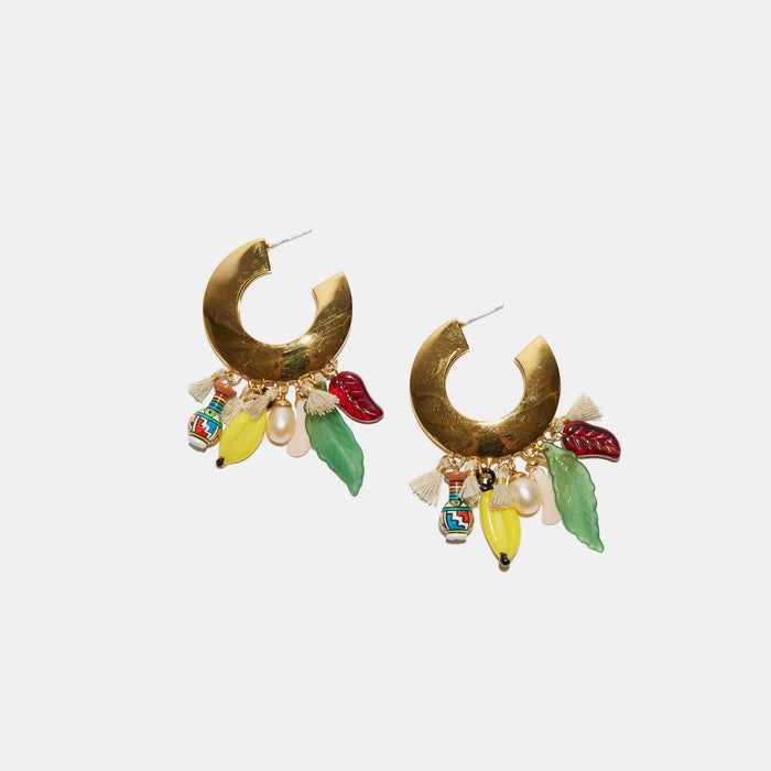 Cambodian Jungle Earrings