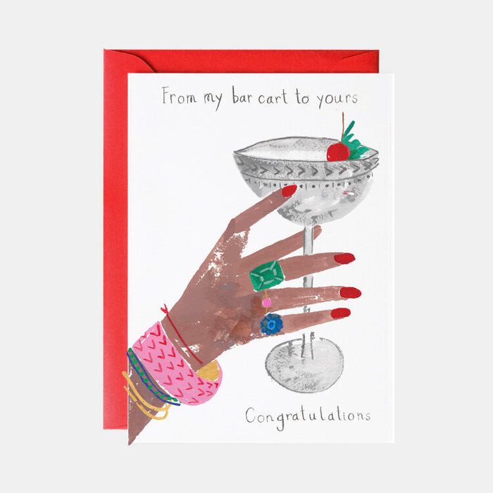 A Very Glamorous Cocktail Card (Congratulations)
