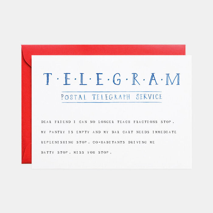 Telegram Stop Card (Thinking of You)