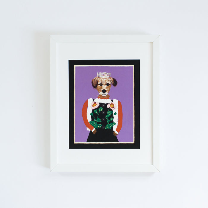 Lady Maggie from the Royal Pet Portrait Print Series