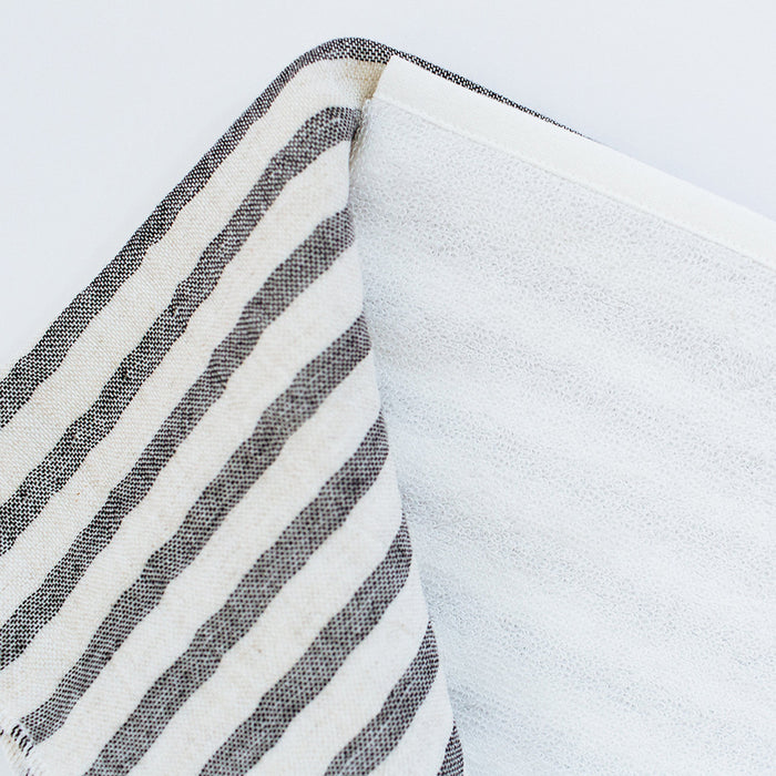 Yoshii Two Tone Stripe Hand Towel, charcoal