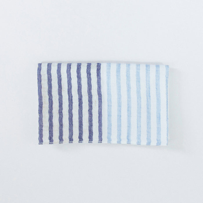 Yoshii Two Tone Stripe Hand Towel, blue