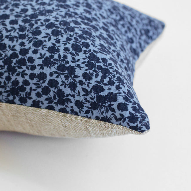 Blue Floral Pillow, lumbar, Pillow, Collyer's Mansion, Collyer's Mansion - Collyer's Mansion