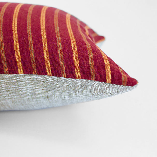 Red and Orange Stripe Pillow, lumbar