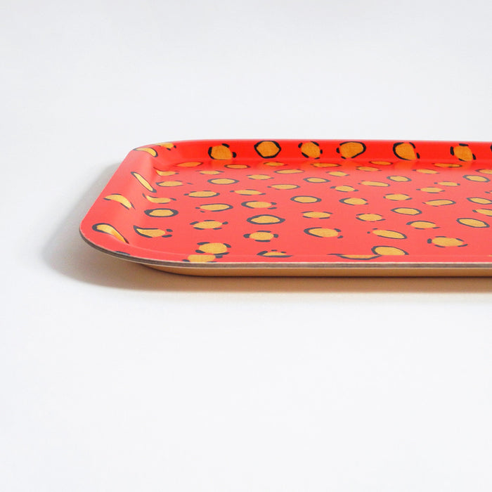 Coral Leopard Wallpaper Tray, large