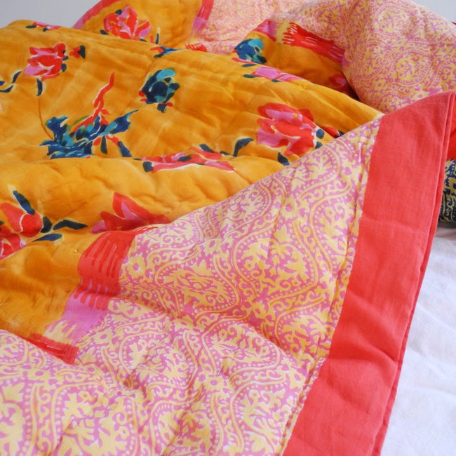 Chinese Spring Mustard Quilt, junior, Quilt, Lisa Corti, Collyer's Mansion - Collyer's Mansion