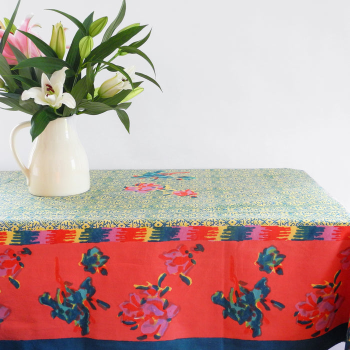 Chinese Spring Geranium Tablecloth