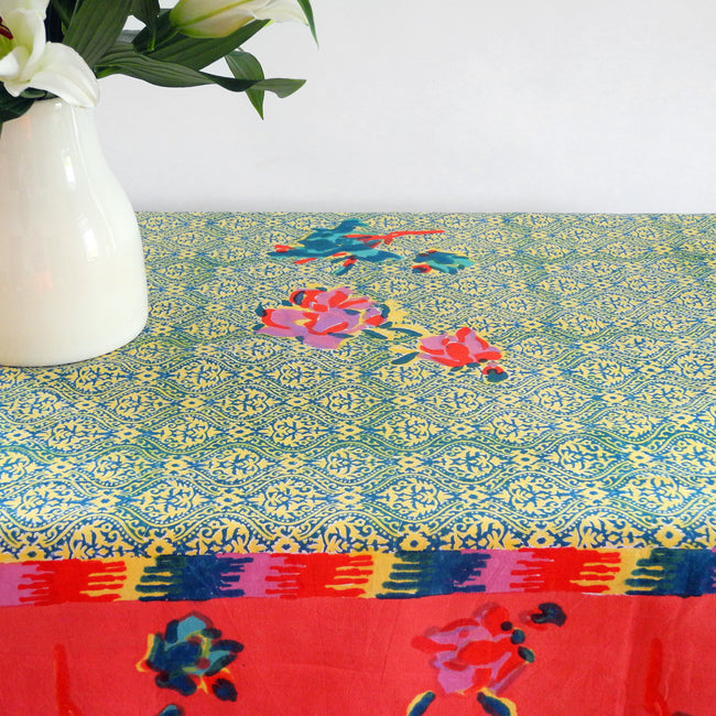 Chinese Spring Geranium Tablecloth, Tablecloth, Lisa Corti, Collyer's Mansion - Collyer's Mansion