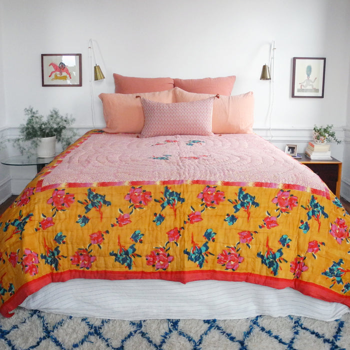 Chinese Spring Mustard Quilt, queen/king